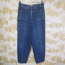 Vintage 90s CALVIN KLEIN Women's Denim Blue HIGH RISE MOM JEANS USA MADE Size 12