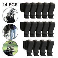 14PCs Golf Club Organizers Putter Bag Clip Holder Iron Driver Protector Set