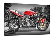 DUCATI 996 RS - 30x20 pulgadas lienzo enmarcado cuadro impresión arte cartel Superbike