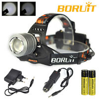 Zoomable Headlamp 9000LM XM-L T6 LED Headlight 18650 Flashlight 3 Modes Torch