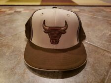 Reebok Fitted NBA Chicago Bulls Cap Hat size 7 5/8 baseball authentic jordan