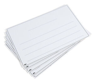 A4 - 4 Lines Lined Whiteboard Dry Wipe White Lap Board Backed Home School Office