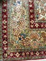 1950 Genuine Turkish Hereke Pure Silk Handmade Rug- Free Shipping