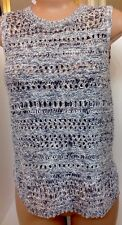 Inhabit Top Grey Sleeveless Open Weave $298 Size P