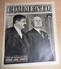 SETTIMANALE ILLUSTRATO PER TUTTI   COMMENTO  N°  45 1947  ORIGINALE !!!
