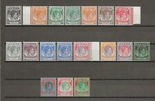 MALAYA/STRAITS SETTLEMENTS 1937-41 SG 278/98  MNH Cat £350