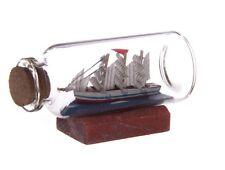 Mini Modellino Barca Veliero In Bottiglia 6,5x3,5cm lui
