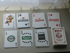 Playing cards beer logo Heineken Carlsberg Budweiser Tuborg etc new unused 55pc