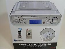 NEW Craig Under Cabinet CD Player AM-FM Radio Alarm Clock Bluetooth AM/FM