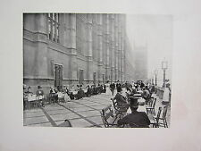 1905 POLITICAL PRINT + TEXT ~ TEA ON THE TERRACE HOUSE OF COMMONS