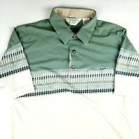 Vintage Classic By Palmland Club Polo Golf Shirt Men Sz Lg Retro Hipster Look