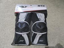 NEW STX Impact Jolt Arm Guards Adult Medium Black Protective Gear Padding LAX