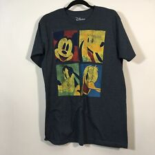 Disney T-Shirt Size Large Micky Mouse And Friends Pluto Goofy Donald Graphic Tee
