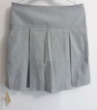 Dennis Uniforms Girl's Pull-On Pleated Twill Skirt/skort Size G14 NWT charcoal