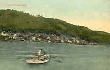 Panama Bay View Fishermen Postcard