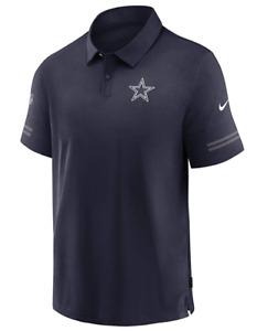 NIKE Men Dallas Cowboys SS Flex Polo College Navy White - Med New