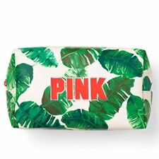 Victorias Secret Pink GRAPHIC Fern Palm Cosmetic Makeup Bag NWT