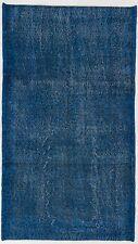 4x7 Ft Navy Blue Color OVERDYED Distressed Vintage Turkish Rug    d474