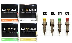20PCS Tatmate Tattoo Disposable Cartridge Needles Round Liner Shader RL,RS,RM,M1