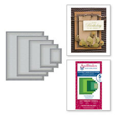 SPELLBINDERS NESTABILITIES CLASSIC RECTANGLES LARGE DIE 5 DIE SET - NEW S4-132