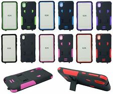 For HTC Desire 530/ 626 Rugged Armor Hybrid Kickstand Hard Soft Cover Case