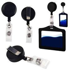 1pcs Retractable Reel Recoil ID Badge Lanyard Name Tag Key Card Holder Belt Clip