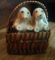 Vintage Miniature Dogs In Basket