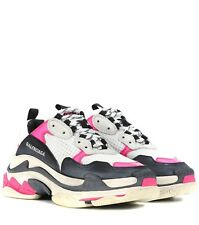 Balenciaga Triple S Women's Trainers Neon Pink / Black / White
