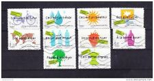 FRANCE 2008 DEVELOPPEMENT DURABLE SERIE COMPLETE DE 10 TIMBRES OBLITERE