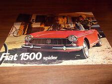 1960s Fiat 1500 Spider Sales Brochure / Original