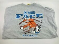 Big Dogs Shirt Basketball In Your Face Graphic Tee Grey Xl Mens 2002 Big Dogs