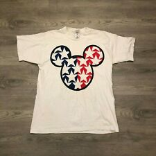 Vintage Mickey Unlimited Jerry Leigh Mens Mickey Mouse USA Graphic T Shirt Sz XL