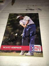 Scott Simpson Signed 1992 Golf Card