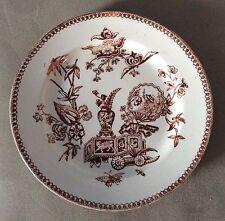 "Antique 1878 T. Elsmore & Son Brown Transferware Salad/Luncheon Plate 7-5/8"""