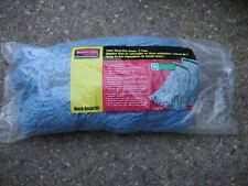 Rubbermaid Commercial Large Blend Mop Heads Blue 2 Pack New in Package