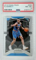 2019-20 Panini Prizm RJ Barrett Rookie RC #250, New York Knicks, Graded PSA 8