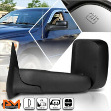 For 02-09 Dodge Ram 1500/2500/3500 Powered+Heated Black Side Towing Mirror Left