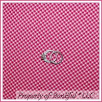 BonEful Fabric FQ Cotton Quilt Pink White Baby Girl S Gingham Check Block Square