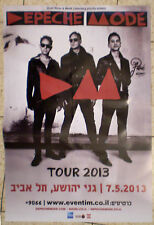 DEPECHE MODE > ISRAEL HEBREW POSTER Delta Machine Tour