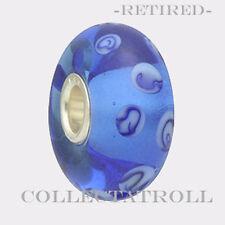 Authentic Troll bead Blue Dots Trollbead *RETIRED*  61154