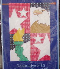Decorative American Flag Liberty Torch Stars Stripes Eagle Outdoor Stitchwork