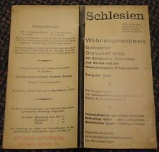 1935 Schlesien Deutschland (Silesia Germany) tourist accomodations brochure