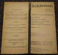 1935 Schlesien Deutschland (Silesia Germany) tourist accomodations brochure