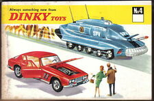 Dinky Toy original Catalogue No. 4 112 pages + Canada price list  No 72580 1968