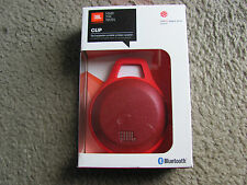 New JBL Clip Ultra Portable Rechargeable Bluetooth Speaker with Carabiner Red