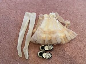 1/4 BJD MSD Luts Kid Delf  - OUTFIT Dress, tights, and shoes - Esmeralda set
