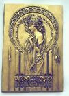 Art nouveau mucha style wall hanging plaque silver/ gold or bronze effects