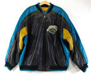 JACKSONVILLE JAGUARS G-III Carl Banks Leather JACKET Coat NFL Football MEN'S XXL