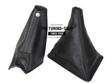 BLACK REAL LEATHER SHIFT & E BRAKE BOOT FITS SKYLINE R32 GTR GTS 1989-1994