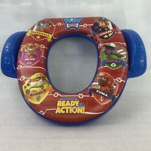 Paw Patrol Potty Seat Plastic Toilet Cushion Colorful Blue Red Training Toddler